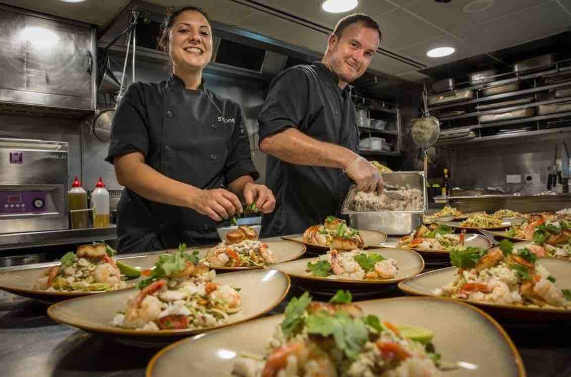 True North chefs cooking