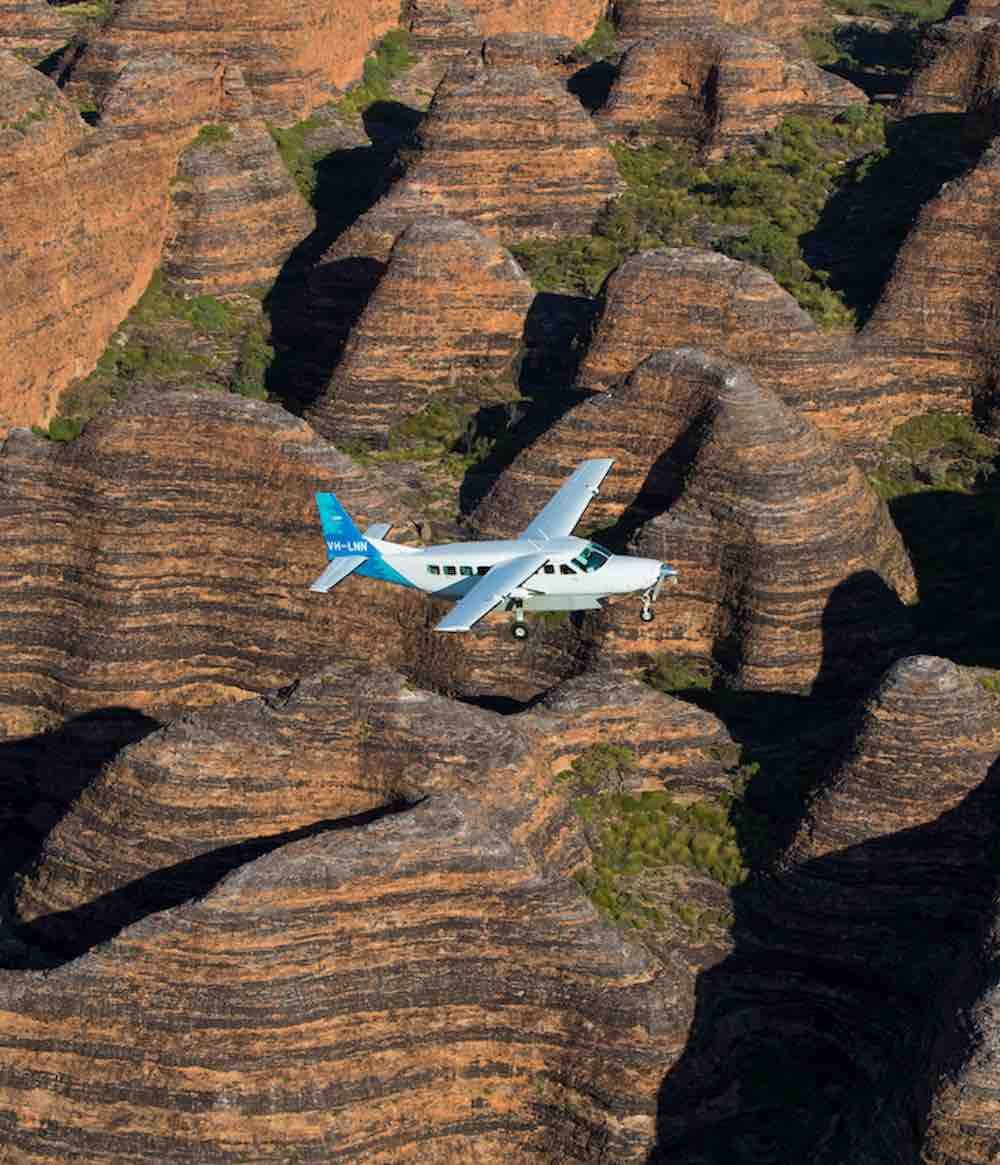 Flying over the Bungle Bungle