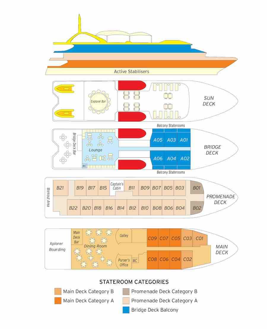 Coral Discoverer ship Deckplan