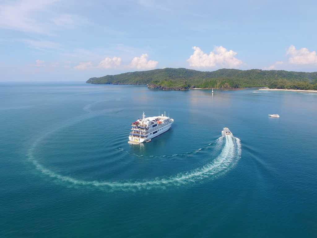 Coral Discoverer aerial Kimberley Cruises