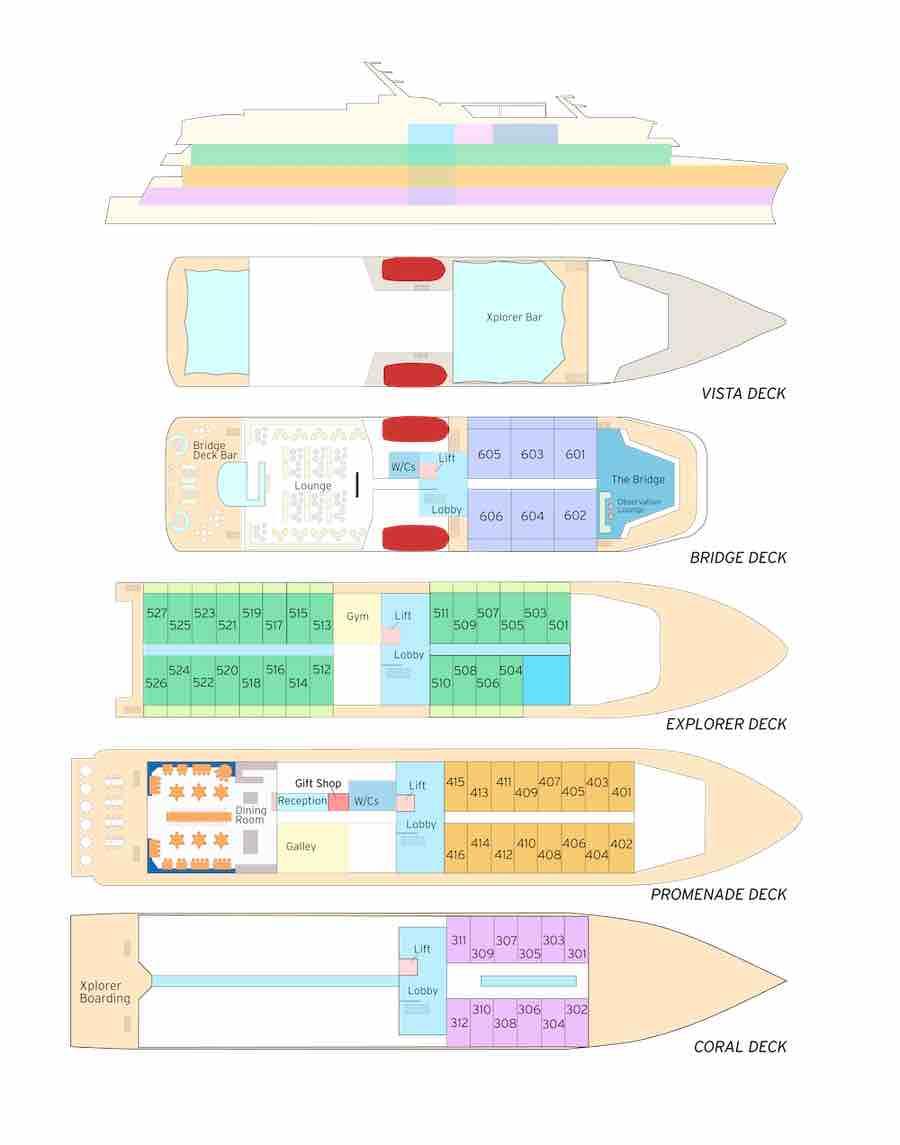 Deck Plan Coral Geographer
