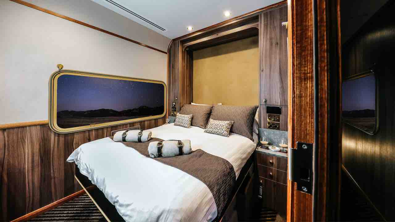 The Ghan Platinum Service by night