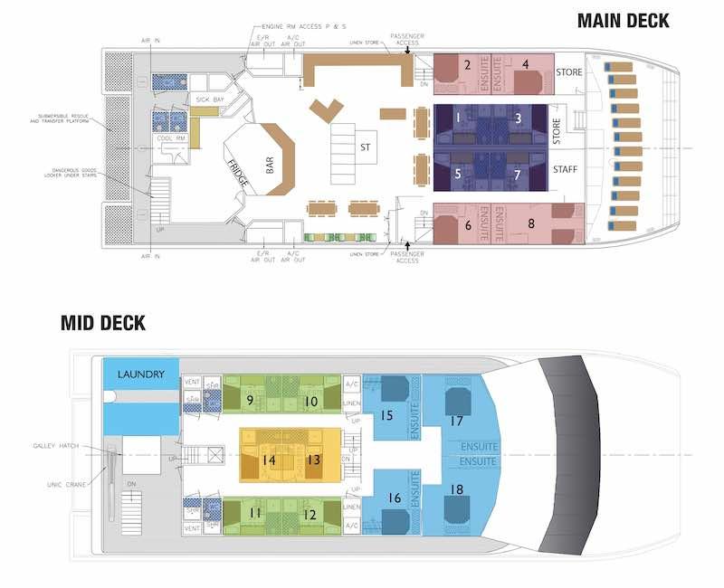 Reef Prince Deck Plan