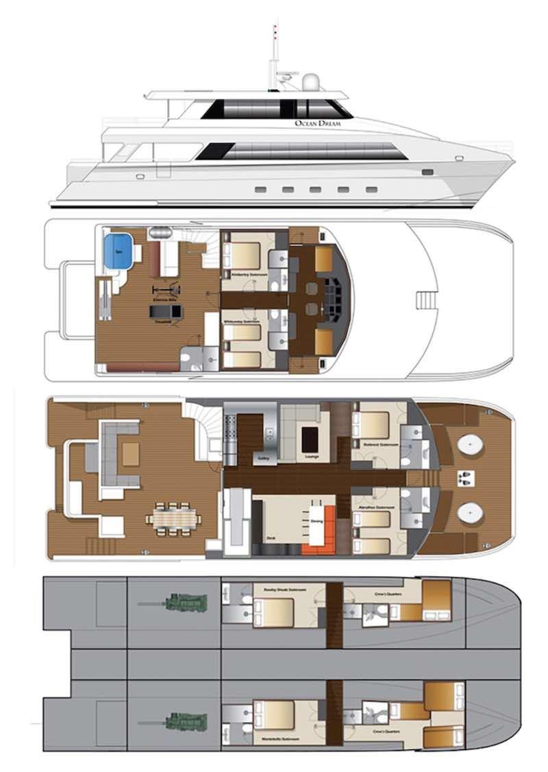 Ocean Dream Deck Plan