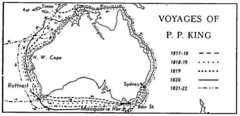 Phillip Parker King Kimberley Map