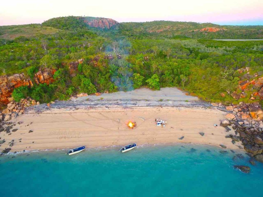 Kimberley Cruises beach bonfire